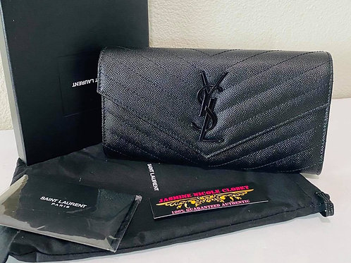 Brand New YSL Wallet Black