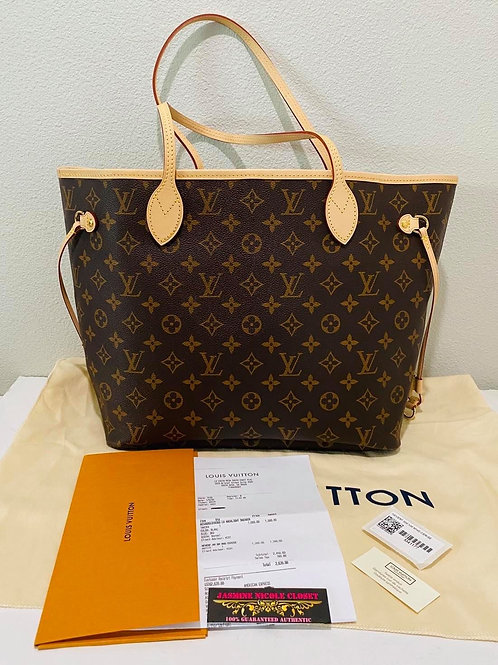 Brand New LV Neverfull MM Cerise
