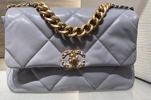 Brand New Chanel 19 Medium Size Gray