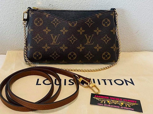 LV Pallas Clutch Black Crossbody Bag