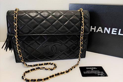 Chanel Fringe Lambskin Shoulder Bag