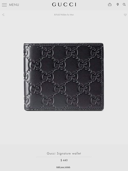 Brand New Gucci Mens Wallet Black