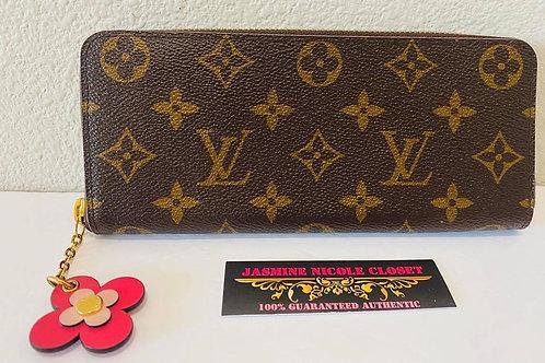 LV Clemence Flower Wallet