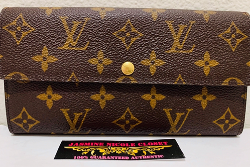 LV Sarah Wallet with 6 CC slots