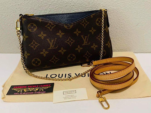 LV Pallas Navy Blue Chain Crossbody Bag