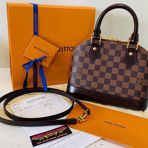 LV Alma BB Ebene Crossbody Bag