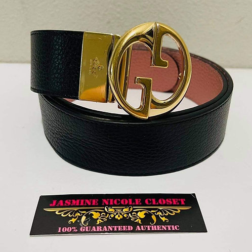 Gucci Belt Reversible Pink and black