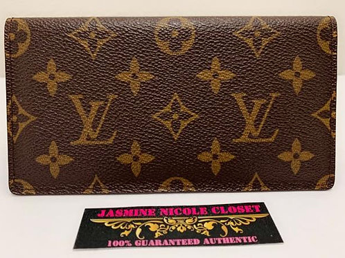 Excellent Condition Authentic LV Checkbook Cover