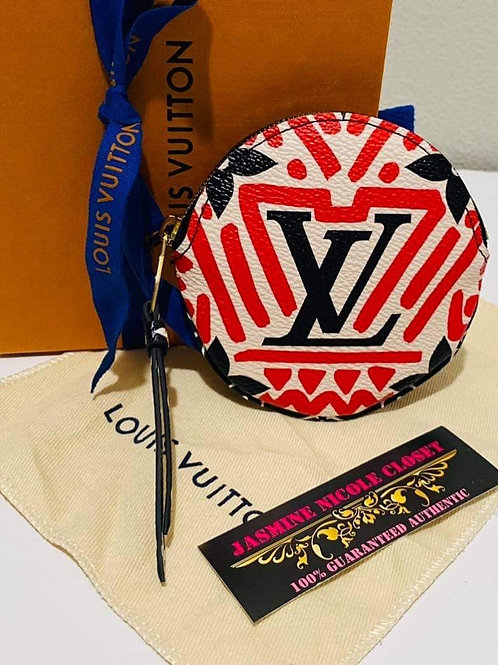Brand New  LV Round Coin Pouch