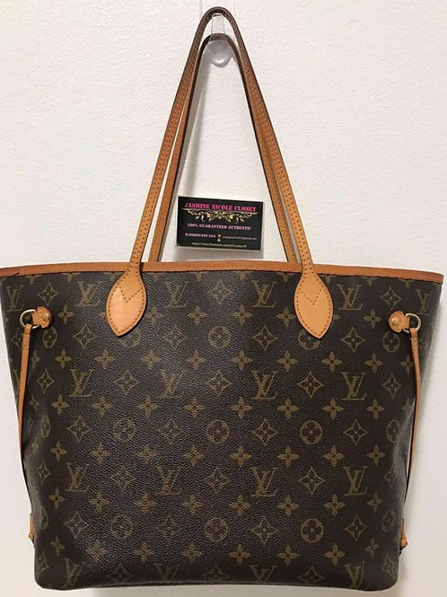 Pre Owned Authentic LV Neverfull MM Shoulder Bag