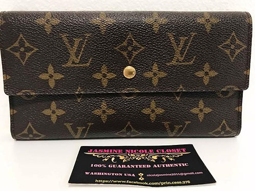 Pre Owned LV International Wallet with 6 CC slots