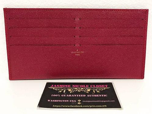 Excellent Condition Authentic LV POCHETTE Felicie Card Holder Fuschia
