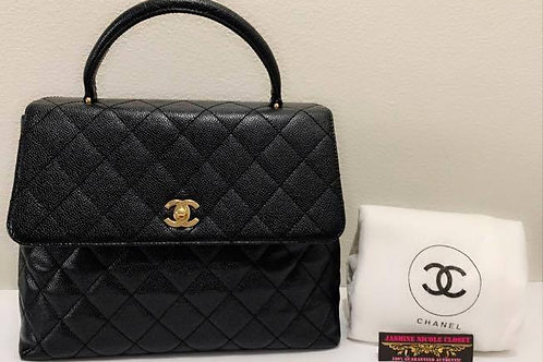 Pre Owned Authentic CHANEL Caviar Kelly Bag