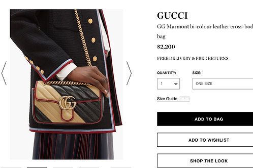 Brand New Gucci Marmont Crossbody Bag