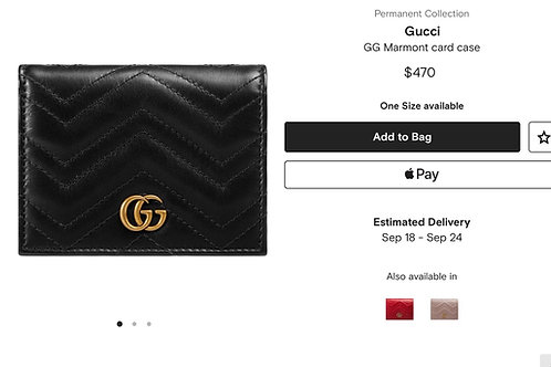 Brand New Gucci Card Case Black i