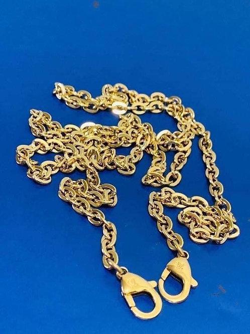 Brand new LV Long Strap Gold Chain 46