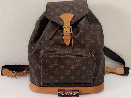 Pre Owned Rare Authentic LV Montsouris GM Backpack