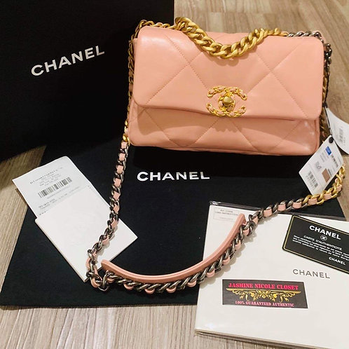 Brand New Chanel 19 Small Size Light Pink