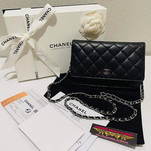 Chanel WOC Black SHW