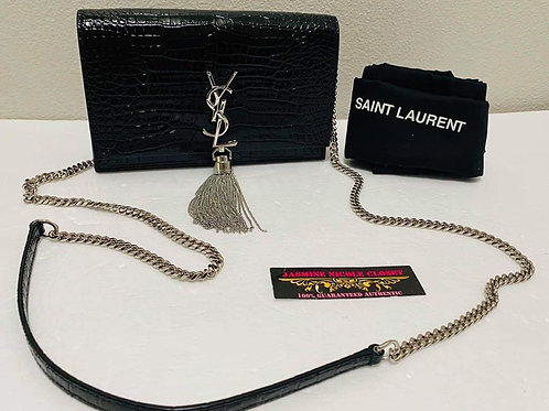 Brand New YSL Kate Tassel Small Croc Crossbody