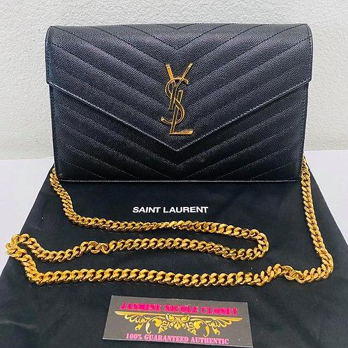 YSL Large WOC Crossbody Bag Balck