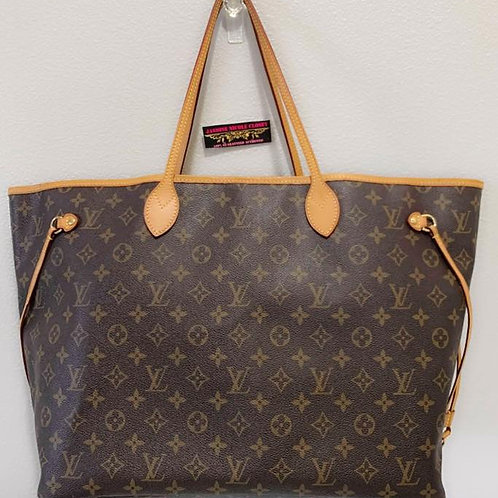 Pre Owned Authentic LV Neverfull GM Mono