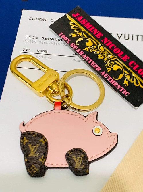 LV PIG Key Charm