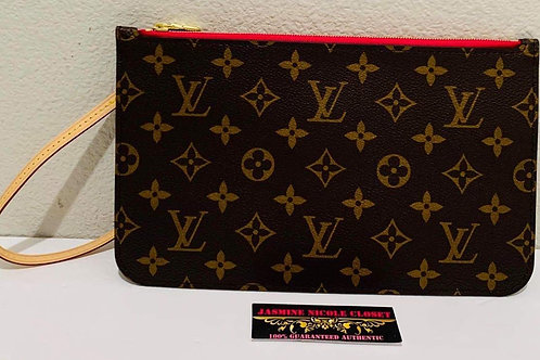 Brand New LV Neverfull Pouch GM/ MM Pivoin