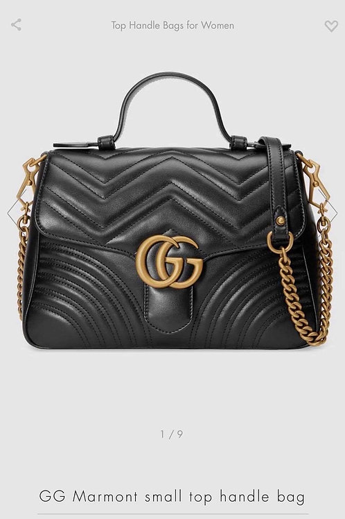 Gucci Marmont Top Handle Small Crossbody