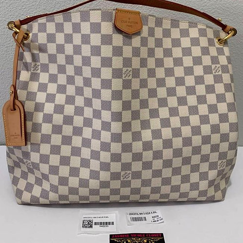 Pre Owned Authentic LV Graceful MM Azur