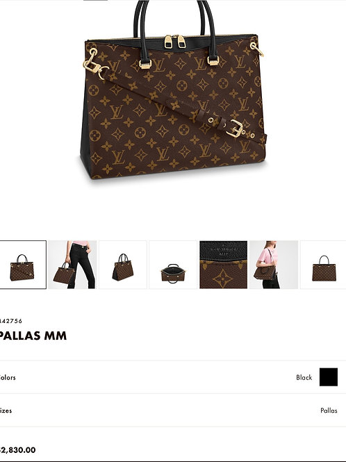 LV Pallas Noir Shoulder Bag