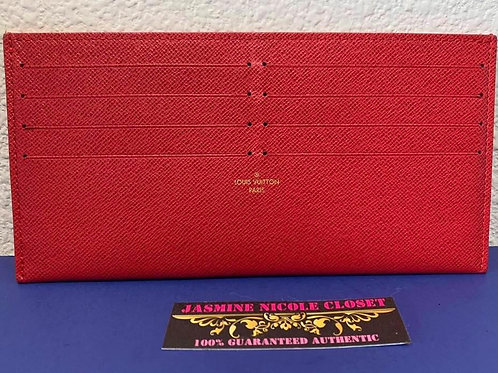 Copy of LV Card Holder Red  with 2 dust bag