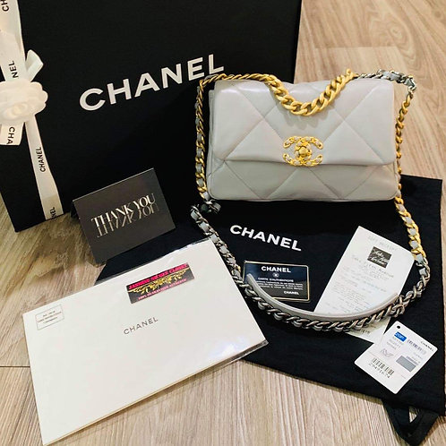 Brand New Chanel 19 Small Size Grey
