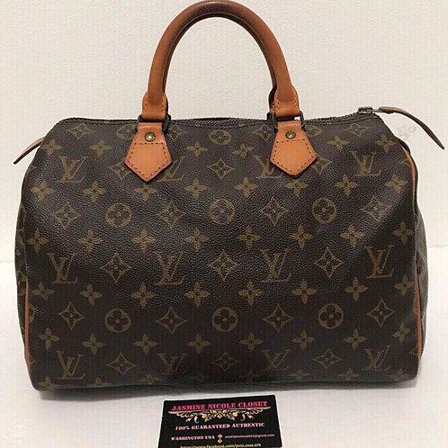 Pre Owned Louis Vuitton Speedy 30 Mono
