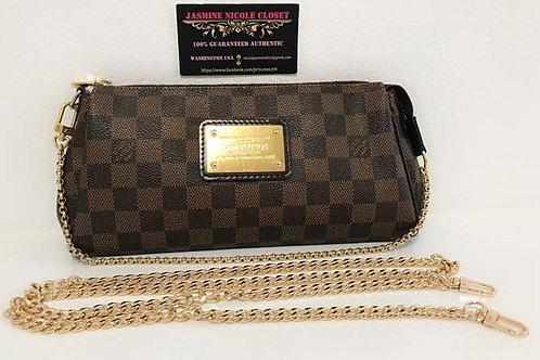 Pre Owned Rare Authentic LV Eva Bag Ebene with Removable NON LV strap 46 inches