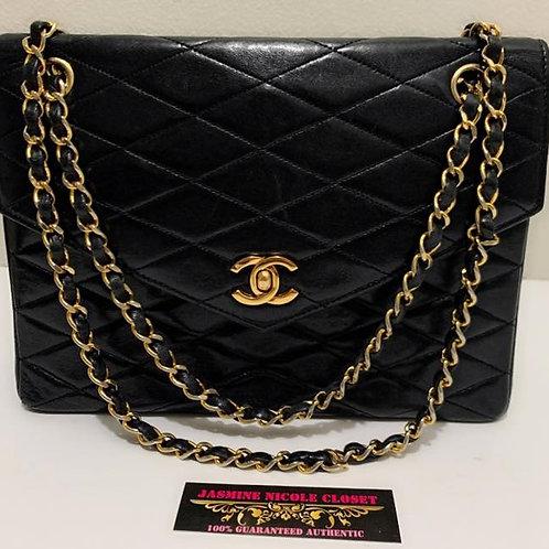 Pre Owned Rare Chanel Lambskin Shoulder Bag