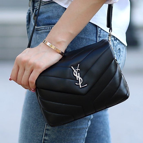 Brand New YSL LOULOU TOY Silver Hardware Cross Body