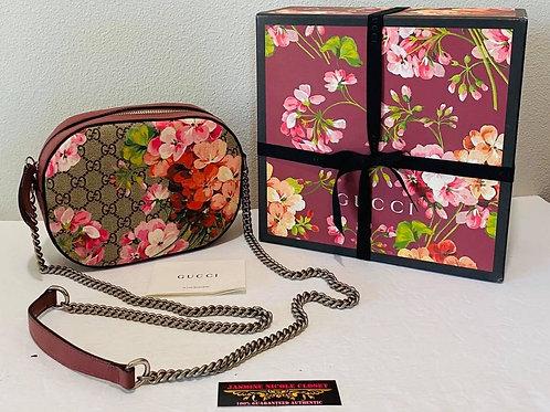 GUCCI Blooms Mini Chain Crossbody Bag