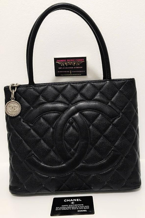 Pre Owned Authentic Chanel Medallion Bag Black
