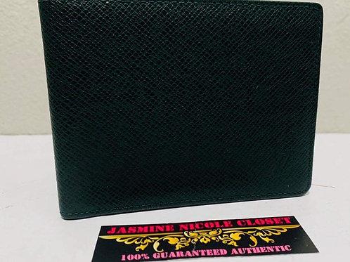LV Men Wallet Dark Green