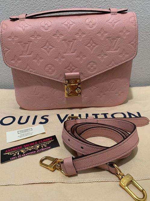 LV Pochette Metis Pink Crossbody Bag