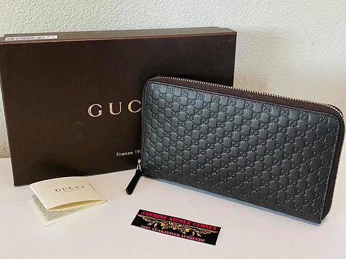 Brand New Gucci Zippy LONG Wallet Dark Brown