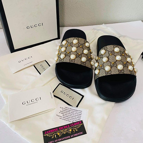 Brand New Gucci Sandals Pearl Size 39