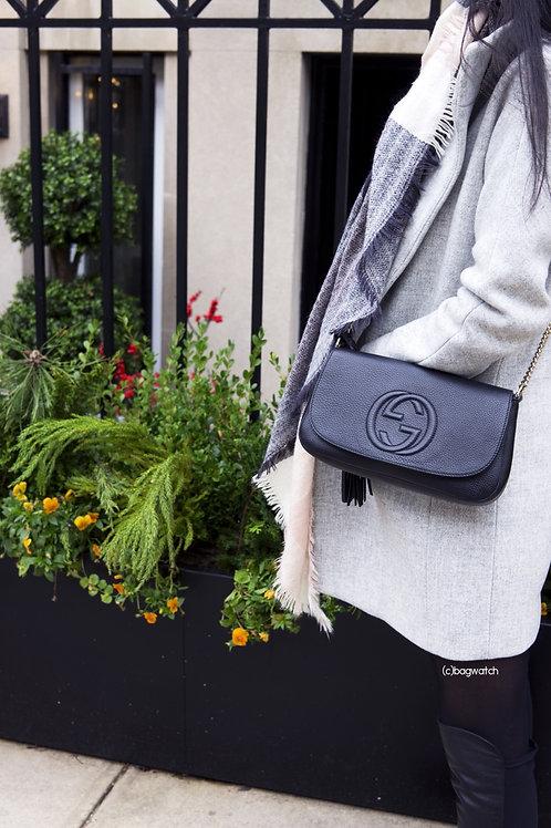 GUCCI Soho Cross Body Bag Black
