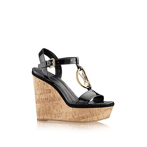 LV Carioca Wedge Sandal Size 39