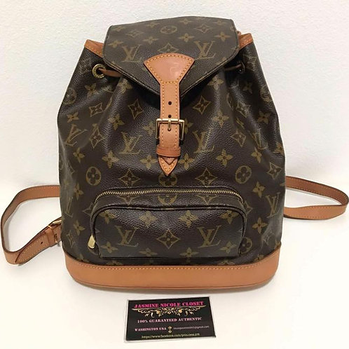 Pre Owned Authentic LV Montsouris MM Backpack
