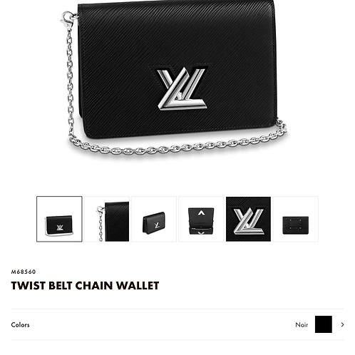 LV TWIST BELT CHAIN WALLET