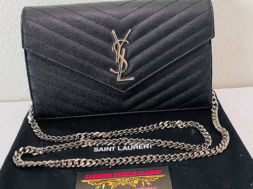 YSL Large WOC Crossbody Bag Balck