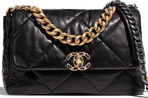 Chanel 19 Medium Size Black