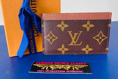 LV Mono Card Holder  Red